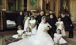 Karaliskās ģimenes fani pamana dīvainību Harija un Meganas kāzu foto
