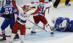 CSKA hokejisti otro gadu pēc kārtas nodrošina sev uzvaru KHL regulārajā čempionātā