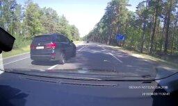 Video: Agresīvs braucējs izraisa bīstamu situāciju uz Tallinas šosejas