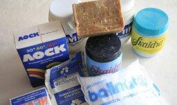 Vai kāds vēl atceras šos pulverus, ziepes un balinātājus?
