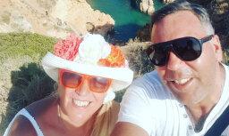 Olga Rajecka dalās ar romantisku foto no saulainās Portugāles