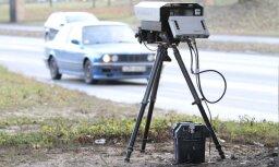 C 21 ноября на дорогах Латвии появятся еще 12 портативных фоторадаров (КАРТА)