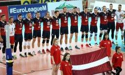Foto: Latvijas volejbola izlase izcīna trešo vietu Eiropas Sudraba līgas turnīrā