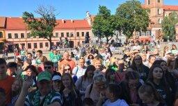"""ФОТО. Зеленое море: """"Жальгирис"""" в Каунасе встретили тысячи болельщиков"""