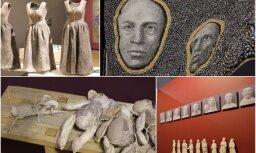 Foto: Atklāta Rīgas Starptautiskās tekstilmākslas un šķiedras mākslas triennāles galvenā izstāde 'Identitāte'