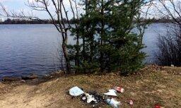 Foto: Zaķusala grimst drazās un atkritumos