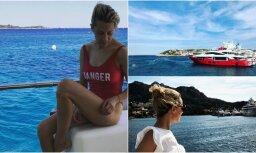 ФОТО: Жена самого богатого человека Латвии показала себя в купальнике