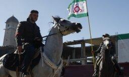 Protestētāji pret zemju nodošanu Čečenijai Magasā izveido telšu pilsētiņu