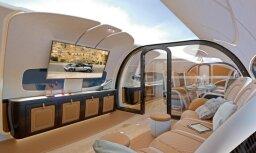 Superauto ražotājs 'Pagani' un 'Airbus' radījuši greznu privāto lidmašīnu