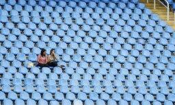 'Kuņluņ Red Star' mājas spēli klātienē apmeklējuši tikai 550 cilvēki