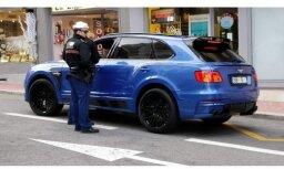 ФОТО: Bentley с латвийскими номерами получил в Монако штраф за парковку