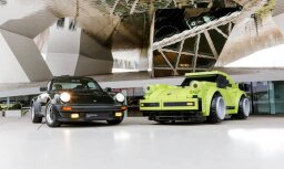 Foto: 'Porsche 911 Turbo' makets dabīgā mērogā no 'Lego' klucīšiem