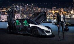 Video: 'Nissan' elektromobiļu jaunā seja Margo Robija naksnīgajās Monako ielās