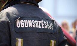 В Риге в пожаре пострадал один человек