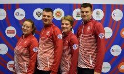 Latvijas kērlingisti izcīna ceturto uzvaru pasaules čempionātā jauktajām komandām