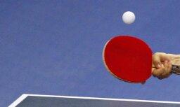 Latvijas vīru komanda gūst pirmo uzvaru Eiropas čempionātā galda tenisā