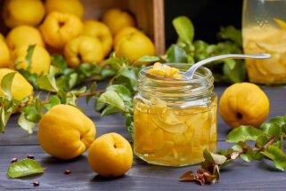 Vitamīnu trieciendeva burciņā – idejas, kā pagatavot cidonijas ziemas krājumiem