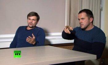 Skripaļu indēšana: Petrova un Boširova pases liecinot par piederību specdienestiem; RT intervija bijusi sods