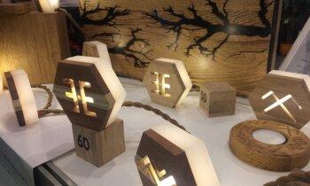 Apgleznoti šķīvji, koka darinājumi un dekori – skolēnu darinājumi mājai tirdziņā 'Cits bazārs'