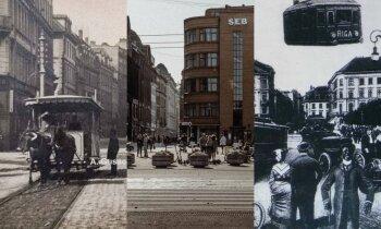 Rīga pirms 125 gadiem: pastaiga Basteja un Aleksandra bulvāra krustojumā
