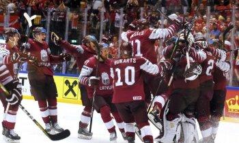 Latvijas hokeja izlase pēc deviņu gadu pārtraukuma iekļūst PČ ceturtdaļfinālā