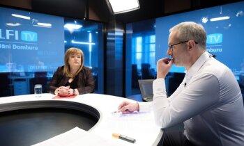 'Delfi TV ar Jāni Domburu' atbild valsts kontroliere Elita Krūmiņa. Pilns ieraksts