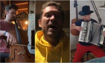 Noklausies! Vietējie mūziķi soctīklus piedzied ar 'karantīnas izaicinājumu'