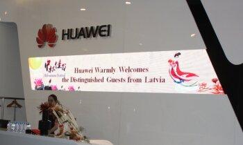 Foto: Būt vai nebūt 'Huawei' centram Latvijā – korporatīvās aplidošanas stāsts