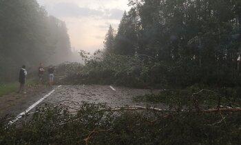 Otrdien VUGD saņēmis vairāk nekā 50 izsaukumus par negaisa radītiem postījumiem