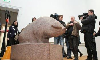 'Kā dīva'. Zaļkalna 'Cūka' pirmā atgriežas atjaunotajā Mākslas muzejā