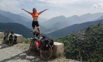 700 kilometri Indijā uz velosipēda – trīs bērnu mammas Līgas stāsts