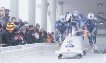 Oskars Ķibermanis kļūst par Eiropas vicečempionu bobsleja četriniekos