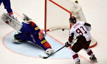 Latvijas hokeja izlase pret debitanti Koreju izcīna drošāko uzvaru kopš 2012. gada