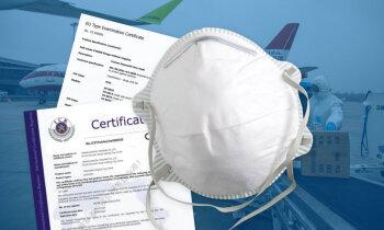 Gandrīz miljonu vērtā 'airBaltic' krava no Ķīnas: masku sertifikāts nederīgs, respiratori - neatbilstoši