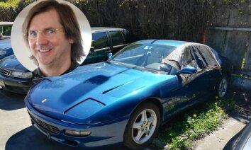 Foto: Izsolīs bijušajam miljonāram Bensonam piederošo 'Ferrari' sliktā stāvoklī