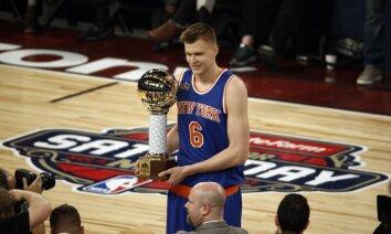 Porziņģis uzvar NBA Zvaigžņu spēles meistarības konkursā