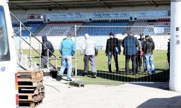 'Skonto' stadiona sāga: tiesu izpildītājam liedz izvest apķīlātās mantas