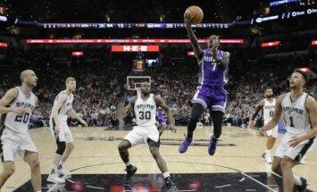 Bertāns ar astoņiem punktiem sekmē iespaidīgu Sanantonio 'Spurs' atspēlēšanos pret 'Kings'