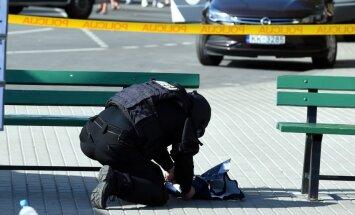 Pie Centrālās stacijas falšo spridzekli novietojušo jaunieti soda ar piespiedu darbu