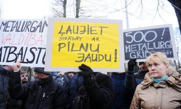 Bezdarbniekos pieteikušies 183 'KVV Liepājas metalurgs' darbinieki