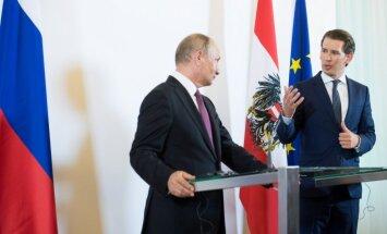 Foto: Putins ieradies vizītē Austrijā