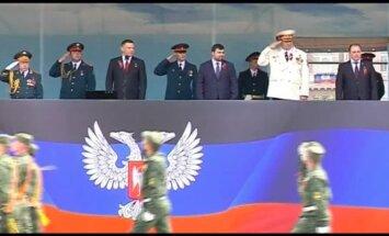 Video: Arī Doņeckā notiek 9. maija militārā parāde