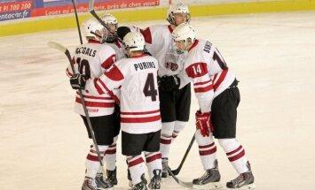 Latvijas U-18 hokeja izlase sekmīgo pasaules čempionātu noslēdz ar zaudējumu Norvēģijai