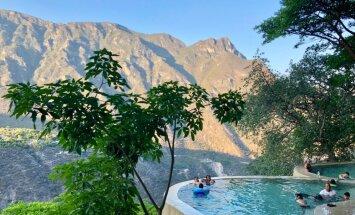 Brīvdabas spa Meksikā: karstā ūdens relaksācija neparastos baseinos