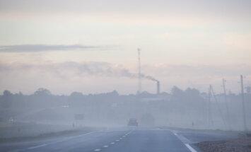 В четверг во многих местах в Латвии ожидается туман