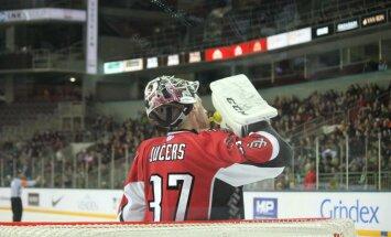 Latvijas hokeja valstsvienība paliek 'sausā' otrajā pārbaudes spēlē pēc kārtas (+FOTO)