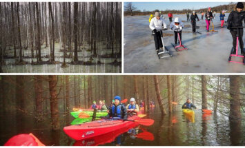 Igaunijas plūdu valstība Somā – tagad tur slido, bet jau drīz gaida laivotājus
