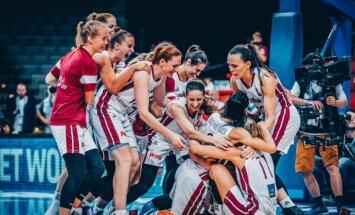 Latvijas basketbolistes pirmo reizi vēsturē izcīna ceļazīmi uz Pasaules kausu