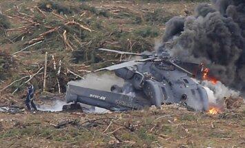 Krievijā aviošova laikā, nogāžoties helikopteram, gājis bojā tā pilots