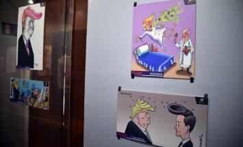 Karikatūristi sociālajos tīklos ironizē par Trampa ievēlēšanu